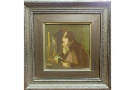 Abraham Goldberger Oil on board,